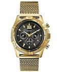 Brand New Guess Gold Black DIial Chronograph Men's Watch U0205G1 Fast Shipping