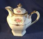 NIPPON Noritake - Hand Painted Covered Cream Pitcher With Gold Moriage Beading