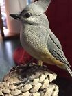 Wood Carving Maryland Eastern Shore Carver Late Paul Nock Tufted Titmouse Bird