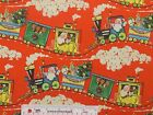 Vintage Santa Christmas Train Holiday Old Fashioned Kids Cotton Fabric BTY (A1)