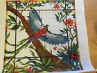 needlepoint canvas   PETER ASHE   THE QUESTZAL BIRD STAINED GLASS