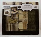 Colorbok FANCY FLEUR 12x12 DIY Scrapbook Photo Album Kit 16 sheets6 chipboard