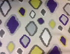 Amanda Nisbet Handprinted Diamond Linen Fabric- Francesca/Grape Fizz - 1.30 yds