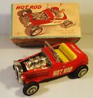 1950'S TIN FRICTION HOT ROD RACER RACE CAR W ORIGINAL BOX NOMURA T.N. JAPAN