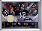 TERRY BRADSHAW 2COL PATCH AUTO #01 15 EBAY 1 1 2010 LIMITED STEELERS AUTOGRAPH