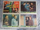 1944 CHARLIE CHAN IN THE CHINESE CAT~4 LOBBY CARDS W/TITLE CARD~SIDNEY TOLER