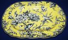 STUNNING 222 FIFTH ADELAIDE YELLOW FLORAL & BIRD OVAL SERVING PLATTER