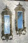 Sconce Set-Genuine Antique-Signed and Dated -1910, Mirrored, with Candle Holders