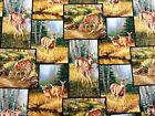 DEER FABRIC  WHITETAIL DEER IN THE WOODS patch 1+ Yd WILD WINGS FABRIC NEW