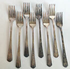 William Rogers Extra Plate Silverware Set of 8 Dinner Forks 7.5