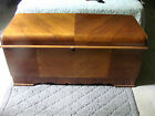 Vintage LANE Art Deco Waterfall #2210 Altavista Cedar Storage Chest Trunk