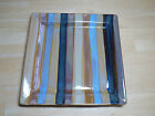 Tabletops Gallery YORK Set of 3 Square Dinner Plates Rust Blue Gold Brown