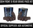 OEM SPEC FRONT AND REAR PADS FOR BMW 740 40 E32 1992 94