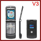 8 Colour Classic Motorola RAZR V3 Unlocked Cellular Flip Phone GSM Worldwide