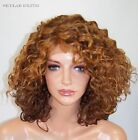Strawberry Auburn C-Part Curly Lace Front Wig Heat OK Iron safe Hand tied Sky