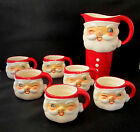 Holt Howard 1960 Set Winking Santa Pitcher with Six Mugs in Original Packaging