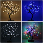 LED Christmas Bonsai Tree Warm White Blue Red Cherry Blossom Xmas Lights Pre Lit