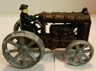 Vintage Hand Painted Cast Iron Toy Tractor 5.25