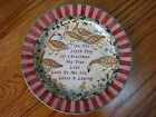 """222 Fifth 12 Days of Christmas 6th Sixth Day Salad Dessert Plate 8"""" MINT"""