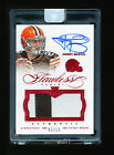 JOHNNY MANZIEL 2014 PANINI FLAWLESS RUBY RED PATCH AUTO JERSEY NUMBERED # 2 15