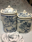 222 FIFTH ADELAIDE BLUE *2 PC* CANISTER SET LG/MD/ NEW