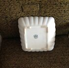 Vintage Alfred Meakin England Royal Ironstone China square scalloped bowl
