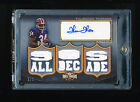 THURMAN THOMAS 2004 TOPPS TRIPLE THREADS PLATINUM JERSEY AUTOGRAPH AUTO #D 1 1
