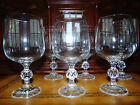 IMPORT ASSOCIATES CLAUDIA PATTERN SET OF 6 CRYSTAL WATER GOBLETS OR STEMS