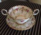 Tiffany &Co New York ,Cup +Saucer  Rose Pattern England Beautiful Vintage