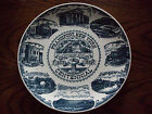 Frankfort New York Centennial 1863 1963 Plate Town Hall Library PO Trolley Canal