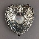 Beautiful GORHAM Sterling Silver Heart Nut Candy Dish No 956 Jewelry Bowl