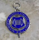 Stunning Vintage Sterling Silver Watch Fob / Medal - WESTMINSTER ATHLETICS - 981