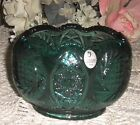 Fenton Spruce Green Rose Bowl Hand Made in USA w/Label