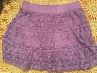 Justice Purple Lace layered skirt Sz 16 Great 100% Polyester