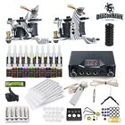 Complete Tattoo Kit Machine Guns Color inks Power Supply Needles HW 21VD 6