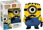 FUNKO POP MOVIES DESPICABLE ME #35 CARL WITH MUSTACHE ENT EARTH EXCLUSIVE VINYL
