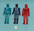 vintage Tomy TRON ACTION FIGURES LOT x3 Tron  Flynn  Sark with disc