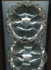 2 Gorham Sterling Silver Filigree Flowered Serving Bowl Dish A1329  7-1/4 inch