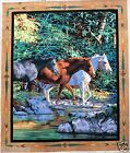 HORSE FABRIC PANEL ENDLESS SUMMER HORSE fabric quilt top wall hanging BTY NEW