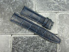 20mm Genuine Leather Strap Blue Watch Band Portuguese IWC Chronograph PILOT RE