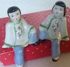 Vintage pair of Japanese shelf sitter figurines - Asian Couple - Japan