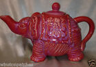 TARGET HOME CALYPSO ST BARTH ELEPHANT TEAPOT 50 OZ RED PINK CORAL