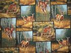 WHITETAIL DEER PATCH forest wild wings Millette SPRINGS cotton quilt FABRIC 33