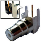 2 Pcs Right Angle RCA Female Socket Panel/Chassis Mount