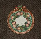 Fitz & Floyd Christmas Wreath Bow Collector Plate Hanging Decorative
