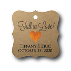 48 Fall in Love Personalized Wedding Favor Tag Gift Tags
