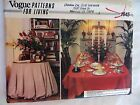 Vogue Sewing Pattern 1845 Table Cover Table Cloth Napkins Patterns For Living