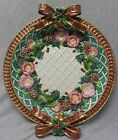 Fitz & Floyd Christmas Wreath Serving Platter Double Bows f973
