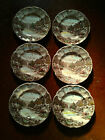 Vintage (6) SIX Johnson Bros. Olde English Countryside Dinner Plates, some chips