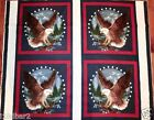 SOAR WITH THE EAGLES FABRIC PILLOW Panel 4 pillow quilt top Patriotic FREE SHIP